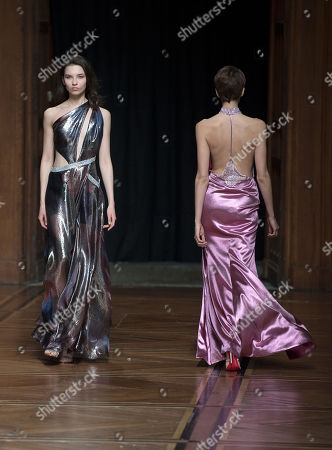 A model presents creations from the Spring/Summer 2018 Haute Couture collection by Israeli designer Galia Lahav and designer Sharon Sever for Galia Lahav fashion house, in Paris, France, 24 January 2018. The presentation of the Haute Couture collections runs from 22 to 25 January.