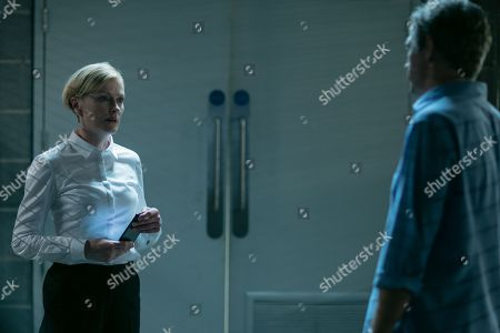 Claire Skinner as ACC Viven Barnes and Jack Davenport as Guy Harcourt
