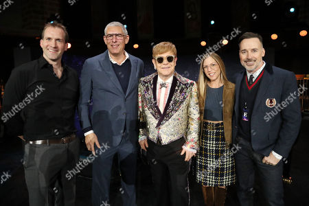 Luke Lloyd Davies, Lyor Cohen, Sir Elton John, Vivien Lewit and David Furnish
