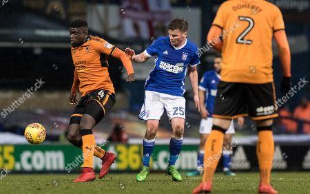 Stephen Gleeson battles for the ball - Ipswich v Wolves