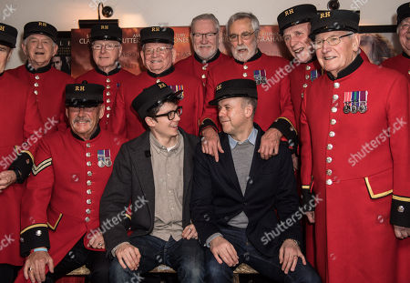 Asa Butterfield and Saul Dibb with Chelsea Pensioners