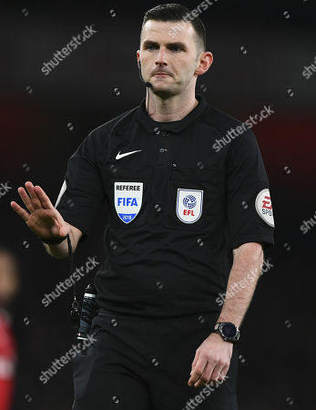 Stock Image of Referee Micheal Oliver