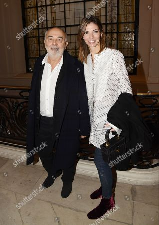 Gerard Jugnot and Patricia Campi in the front row