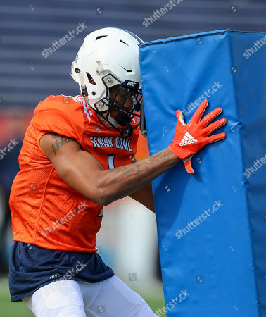 North Squad cornerback Christian Campbell of Penn State (1) runs through drills during the North's team practice for Saturday's Senior Bowl, in Mobile, Ala