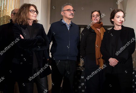 The jury of the Hyeres International Festival of Fashion and Photography 2018 during a presentation of the festival at the Musee des Arts Decoratifs as part of the Paris Fashion Week,  in Paris, France, 24 January 2018. Bettina Rheims (L) will be the head of jury for  photography prize. Hyeres International Festival of Fashion and Photography 2018 will run from 26 to 30 April 2018.