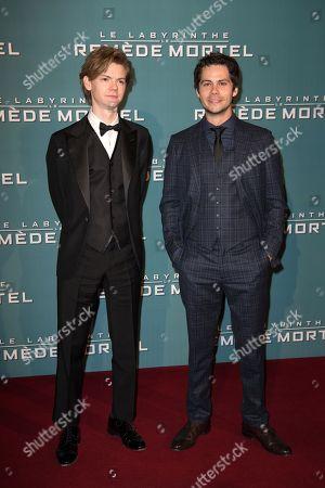Actors Thomas Sangster and Dylan O'Brien