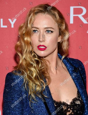 "Model Raquel Zimmermann attends Revlon's ""Live Boldly"" campaign launch event at Skylight Modern, in New York"