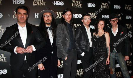 Bob Crawford, Joe Kwon, Seth Avett, Scott Avett and Tania Elizabeth of the Avett Brothers