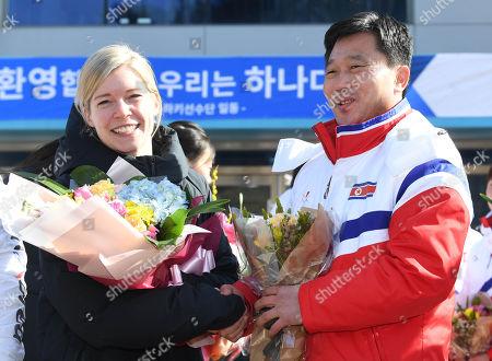 Sarah Murray and Pak Chol-ho
