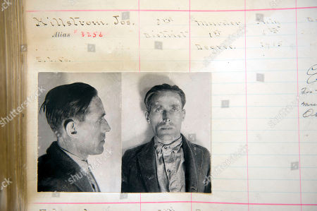 This photo from the Utah state archives shows Joe Hill's prison records, identifying him as Joseph Hillstrom. Lionized in a song sung by Pete Seeger and Bruce Springsteen, labor activist and songwriter Joe Hill is revered by many as a hero and martyr. To others, Hill was a murderer who gunned down a Salt Lake City grocer and his son and got what he deserved when he was executed by firing squad in 1915