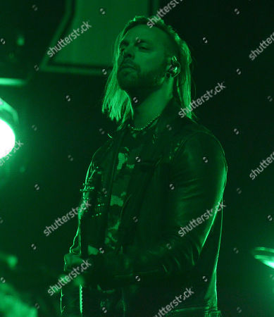 Lead singer Matthew Tuck of the band Bullet for my Valentine performs at the Resch Center in Green Bay, Wisconsin