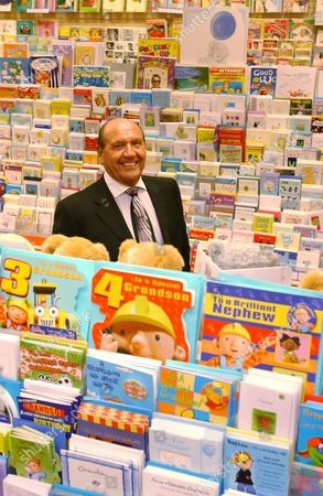 Don Lewin, Chairman, Chief Executive and founder of Clinton Cards pictured in one of their outlets.