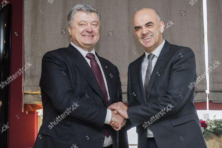 Alain Berset and Petro Poroschenko
