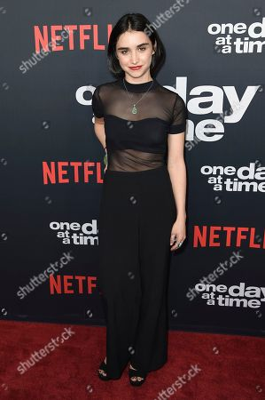 """Libe Barer attends the Los Angeles premiere of """"One Day at a Time"""" Season 2 at ArcLight Hollywood, in Los Angeles"""