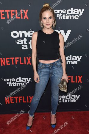 """Sally Pressman attends the Los Angeles premiere of """"One Day at a Time"""" Season 2 at ArcLight Hollywood, in Los Angeles"""