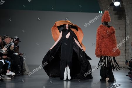 Models present creations from the Spring/Summer 2018 Haute Couture collection by Christine Hyun Mi Nielsen at the Paris Fashion Week, in Paris, France, 25 January 2018. The presentation of the Haute Couture collections runs from 22 to 25 January.