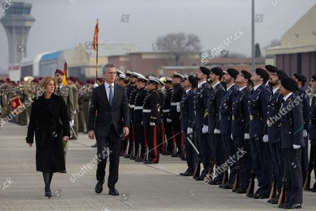 Editorial picture of Stoltenberg visits Spain, Madrid - 25 Jan 2018