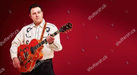 Bath United Kingdom - March 28: Portrait Of English Rockabilly Guitarist Darrel Higham Photographed In Bath On March 28