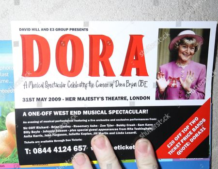 Editorial image of One off musical 'Dora' celebrating the career of Dora Bryan, Her Majesty's Theatre, London, Britain - 31 May 2009