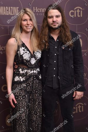 Stock Photo of Brent Cobb and wife