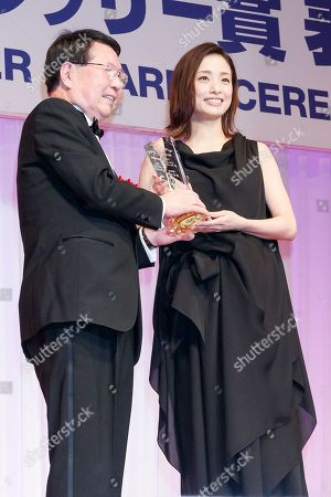 Editorial picture of Japan's Best Jewellery Wearer Awards, Tokyo, Japan - 25 Jan 2018