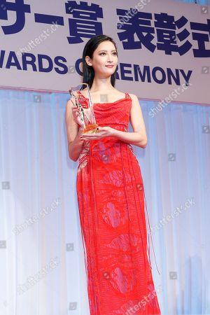 Editorial image of Japan's Best Jewellery Wearer Awards, Tokyo, Japan - 25 Jan 2018