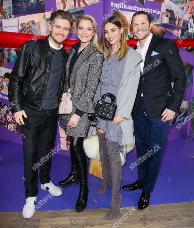 Stock Photo of Joern Schloenvoigt, Valentina Pahde, Ann-Kathrin Broemmel and Paul Janke