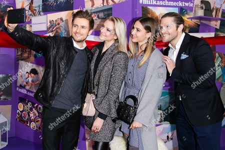 Editorial image of Get Together at the Milka Wall of Inspiration, Berlin, Germany - 25 Jan 2018