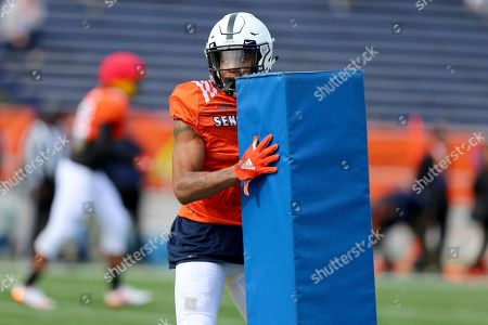 North Squad DC Christian Campbell of Penn State during the North teams practice for Saturday's Senior Bowl college football game in Mobile, Ala