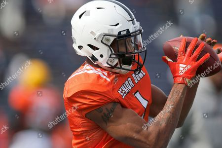 North squad cornerback Christian Campbell of Penn State in action during the North teams practice for Saturday's Senior Bowl college football game in Mobile, Ala