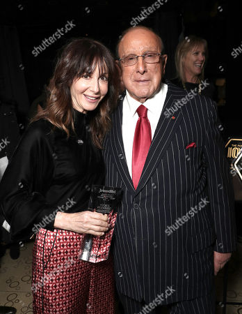 Chairman and CEO of Universal Music Publishing Group Jody Gerson and Clive Davis