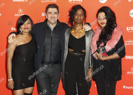 (L-R) Musician Dorothy Cuyler, director Eugene Jarecki, musician Carla Cuylear and musician Natasha Cuylear arrive for the premiere of the movie 'The King' at the 2018 Sundance Film Festival in Park City, Utah, USA, 25 January 2018. The festival runs from  the 18 to 28 January.