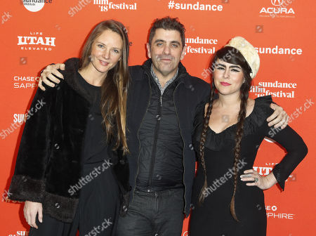 Musician Maggie Clifford, director Eugene Jarecki and singer Kat Wright arrive for the premiere of the movie 'The King' at the 2018 Sundance Film Festival in Park City, Utah, USA, 25 January 2018. The festival runs from  the 18 to 28 January.