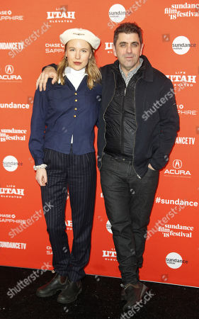 Producer Georgina Hill and director Eugene Jarecki arrive for the premiere of the movie 'The King' at the 2018 Sundance Film Festival in Park City, Utah, USA, 25 January 2018. The festival runs from  the 18 to 28 January.
