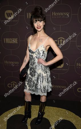 Singer Kimbra attends the Warner Music Group pre-Grammy party at The Grill/The Pool, in New York