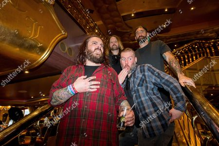 Shaun Morgan, Dale Stewart, John Humphrey, Clint Lowery. Shaun Morgan, from left, Dale Stewart, John Humphrey and Clint Lowery of Seether pose on board the Carnival Liberty during day 4 of the ShipRocked cruise on in Cape Canaveral