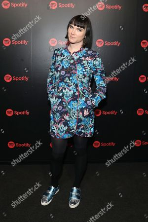 Victoria Asher attends Spotify's Best New Artists 2018 Party at Skylight Clarkson Sq, in New York