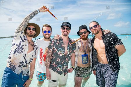 Mike Protich, Ryan Williams, Dave McGarry, Ricky Miller, Pat Gerasia. Mike Protich, from left, Ryan Williams, Dave McGarry, Ricky Miller and Pat Gerasia of Red Sun Rising pose on board the Carnival Liberty during day 3 of the ShipRocked cruise on in Cape Canaveral