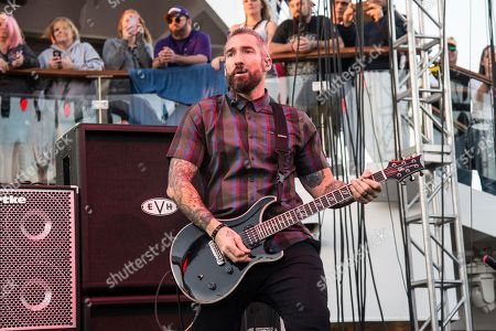 Clint Lowery of Seether performs on board the Carnival Liberty during day 1 of the ShipRocked cruise on in Cape Canaveral