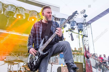 Dale Stewart of Seether performs on board the Carnival Liberty during day 1 of the ShipRocked cruise on in Cape Canaveral