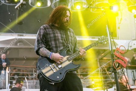 Shaun Morgan of Seether performs on board the Carnival Liberty during day 1 of the ShipRocked cruise on in Cape Canaveral