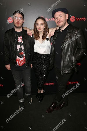 Martin Doherty, Lauren Mayberry and Iain Cook (CHVRCHES)