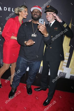 Funkmaster Flex with Laura Rodriguez (L) and Allen Dunn (R)