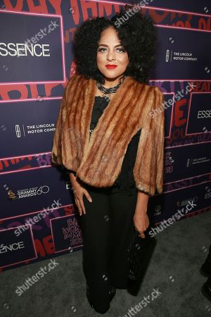 Singer Marsha Ambrosius attends the ninth annual Essence Black Women in Music event at the Highline Ballroom, in New York