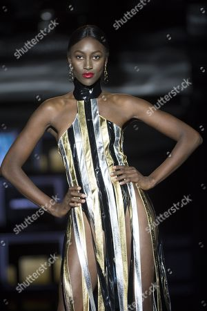 Aya Gueye on catwalk