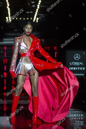 Stock Image of Aya Gueye on catwalk