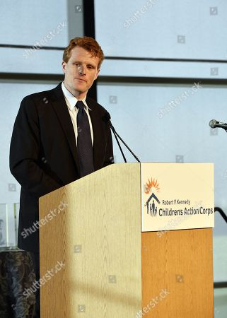 Editorial photo of Rep. Joseph Patrick Kennedy III speaking at an event for the RFK Children's Action Corps, USA  - 2017