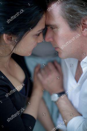 Archie Panjabi as Mona Shirani and Jack Davenport as Guy Harcourt
