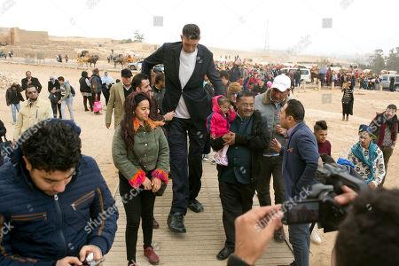 Editorial image of Worlds Tallest Man Shortest Woman, Cairo, Egypt - 26 Jan 2018