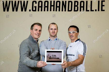 Pictured (L-R) Ronan Morris, Together Digital Co-Founder, Darragh Daly, GAA Handball National Development Officer and Paul Brady, Cavan, 5 time current World Handball Champion